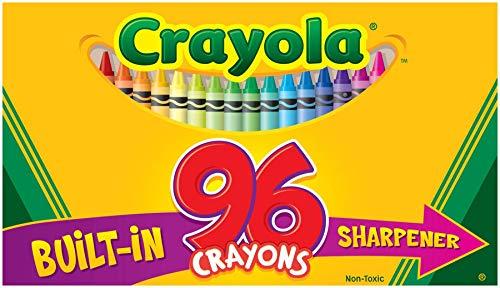 Crayola 52-0096 Crayon Box With New Specialty Crayon Samples 96 Count