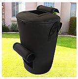 GHKSDLJFGDF Bolsas de Basura de jardínndependiente y Plegable, Bolsas de Basura para residuos de jardín,Non-Woven Compost Bag-Negro 45x80cm