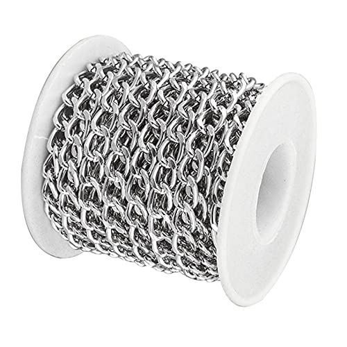 harayaa 16.4ft Never Fade Aluminium Curb Chain Link Cadenas Trenzadas Cable de Metal Cadena de...
