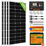 ECO-WORTHY 400W 24V Solar Power System for RV Off Grid 1.6KWH Solar Panel Kit with Battery and Inverter: 400W Solar Panels + 20A...