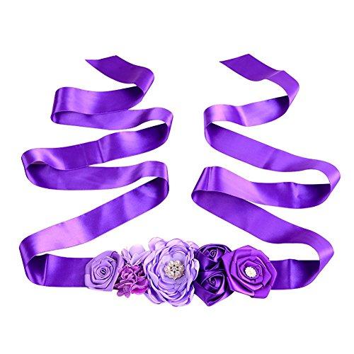 Milopon Cinturón de tela para vestido de boda con purpurina, decoración 180...