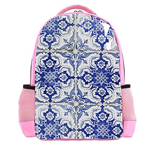 GYGYGY Hauswand aus portugiesischen Fliesen, Niedlicher Kinderrucksack für Jungen Mädchen Kinderschultasche für Kindergarten Vorschule Kleinkind Reisetasche