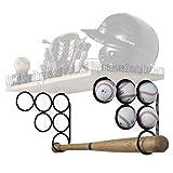 Wallniture Baseball Softball Bat Rack - Sports Accessories - Wood Shelf is not