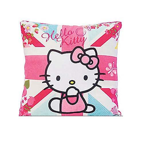 Diseño de flores de cojín Hello Kitty