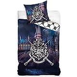 SETINO Harry Potter Hogwarts - Juego de cama (funda nórdica de 140 x 200 cm y funda de almohada de 65 x 65 cm, algodón)