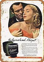 ブリキ看板1938 Endocreme ホルモン美容クリームコレクティブルウォールアート