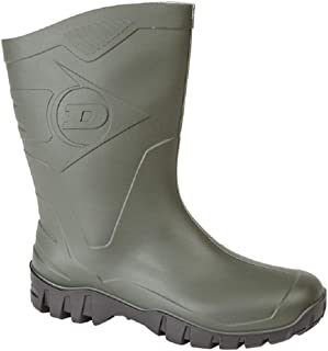 Dunlop Wide-Calf Half-Height Wellies. Sizes 4-12UK