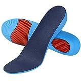 SOUMIT Erhöhung Höhe Einlegesohle   Weich Memory Schaum Schuheinlagen mit Dämpfende Silikon-Gel Sohlen für Alltag Beruf und Schützt Ihre Füße (40/45 EU, Erhöhen3,6CM)