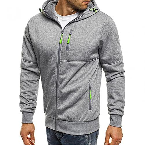 RYTEJFES Herren Zip Hoodie Sweatjacke Kapuzenjacke Kapuzenpulli mit Reißverschluss Langarm Zipper Kapuzenpullover Casual Hooded Sweatshirt Herbst Winter Sweater Tops Blouse Outwear
