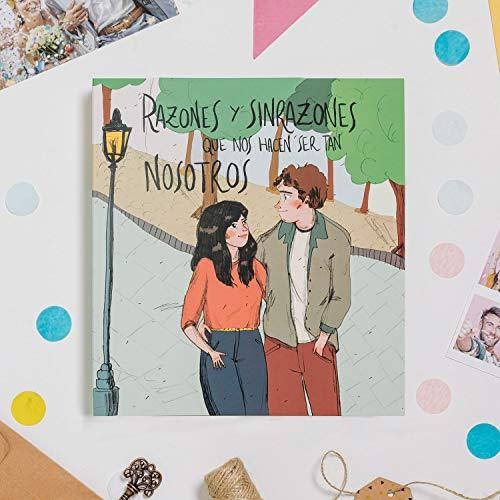 Recuerding - Álbum de Fotos para Parejas más Que Friends, 70 Páginas (22x24cm) | para Novios | Personalizable | Moderno y Original | Escribir y Pegar | Hecho en España