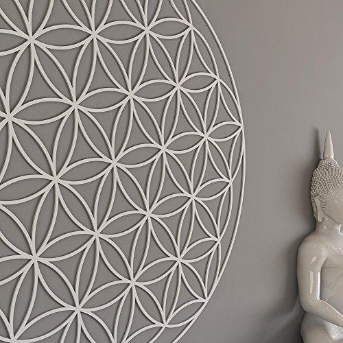 HomeArtDecor | Blume des Lebens Heilige Geometrie Wandkunst | Hochwertiges Polyvinylchlorid | Büro Dekoration | Dekoration | Einfach anzuwenden | Fräsen Laubsägearbeiten | Gitter