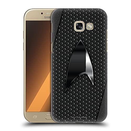 Head Case Designs Licenza Ufficiale Star Trek Discovery Nero Distintivi Cover Dura per Parte Posteriore Compatibile con Samsung Galaxy A5 (2017)