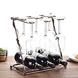 JND Weinregal Weinregal, kreative Handwerk, Can halten viele Tassen und viele Weinflaschen, Größe: 33 cm lang 36 cm hoch, 42 cm lang 41 cm hoch Schöne Weinschrank (Size : 33 cm Long 36 cm High)