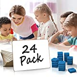 Scribbledo 24 PackDry Erase White Board Class Pack 9'X 12' Dry Erase Lap Boards, Single Sided Small White Boards for Students Teachers Kids & Classroom - 24 Whiteboard Erasers Included