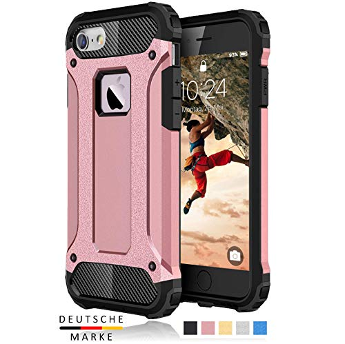 BYONDCASE iPhone 6s & 6 Panzer Outdoor Case Hülle Ultra Slim Komplettschutz [Hybrid TPU Silikon Hardcase] Handyhülle in Roségold Rundumschutz komplett kompatibel für iPhone 6 Handy