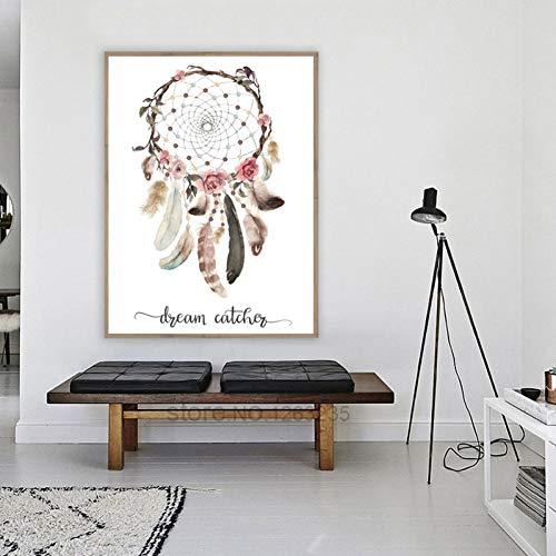 EBONP - Cuadro Decorativo para Pared, diseño de atrapasueños, 50x70cm(20x28inch)