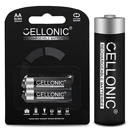 CELLONIC® 4X 2600mAh Wiederaufladbare AA Batterien für Fernbedienung Taschenlampe - Lange Laufzeit, viele Ladezyklen - aufladbare Akku-Batterien Telefon Babyphone Controller - Mignon HR6 AA Akkus