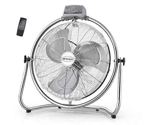 Orbegozo PWM 2147 Ventilador industrial, 45 cm de diámetro, 3 velocidades de ventilación, mando a distancia, sistema antivuelco, cabezal oscilante multiorientable, 130 W, Metal