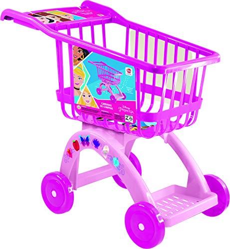 Carrinho de Compras Princesas Lider Brinquedos Rosa/Pink