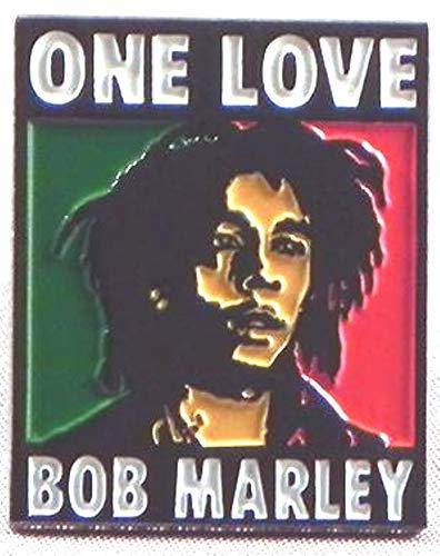 Badge à épingle en métal émaillé Rock Music Superstar – Bob Marley