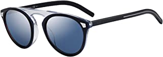 Dior - Christian DiorTailoring2 gafas de sol w / 52mm Azul Cielo Espejo Lente JBWXT Tailoring2 Adaptación de 2 Tailoring2 / S DiorTailoring2 / S hombre azul Habana Grande