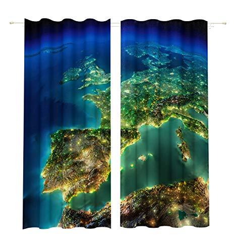 Lemare Rideau Opaque Impression numérique 2 x 145 x 260 cm
