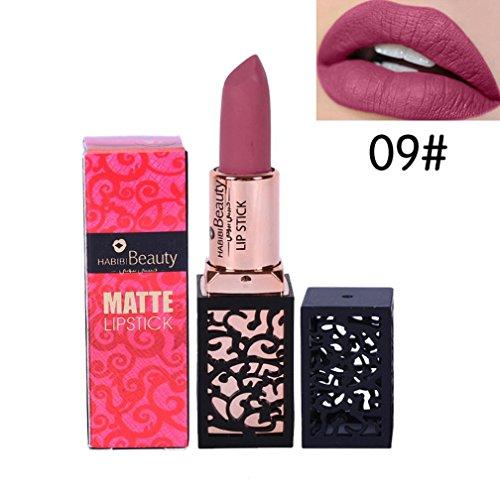 HABIBI BEAUTY 24 Couleurs Les femmes nouveau rouge à lèvres cosmétiques lèvres Matte Gloss durable lèvres (#9)