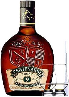 Ron Centenario Conmemorativo Reserva 9 Jahre Costa Rica 0,7 Liter  2 Glencairn Gläser  Einwegpipette 1 Stück
