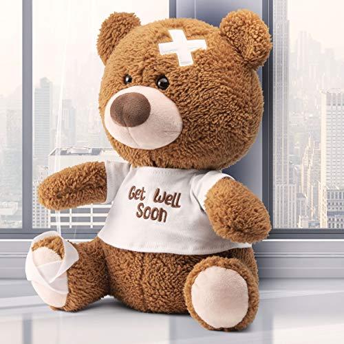 Prextex 12-Inch Get Well Soon Plush Bear - Soft Stuffed Tedd Bear