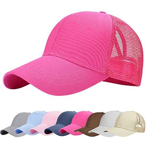 UMIPUBO Sombreros Gorra de Malla s Adjustable al Aire Libre Cap clásico Algodón Casual Sombrero Gorras de Béisbol para Hombre Mujer (Caliente)