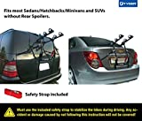 Tyger Auto TG-RK2B202B Deluxe Black 2-Bike Trunk Mount Bicycle Carrier Rack. (Compatible with Most...