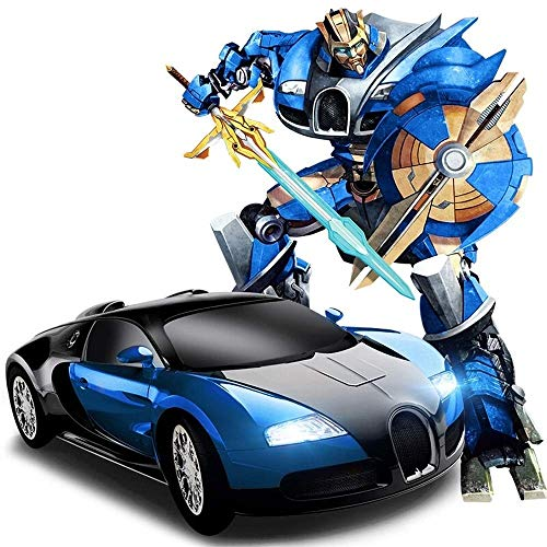Great Price! Woote Kids Blue RC Induction Transformer Wireless Remote Control Car Transformer Robot ...