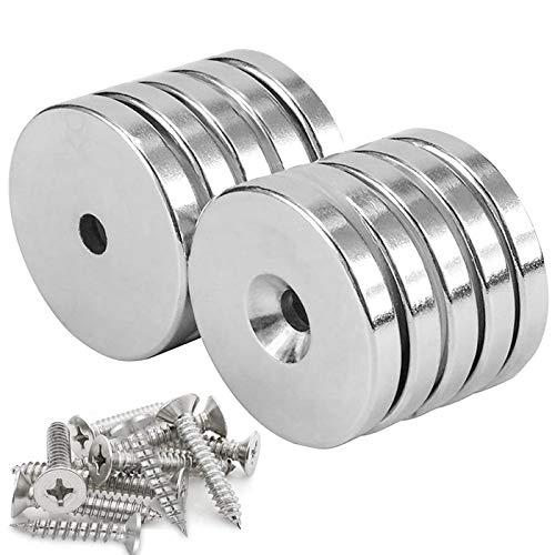 62 pezzi Magneti per Lavagna Magnetica,Calamite per Lavagne,Mini Magneti Neodimio,Puntine Magneti,Magneti in Acciaio nichelato,Calamite per Lavagne Frigo,Magneti Rotondi (20)