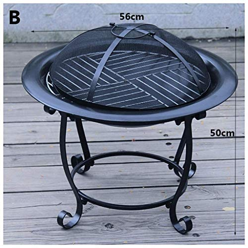 New HLWAWA Outdoor Fire Large Bonfire Wood Burning Patio Coal Grill Firepit for Outside Grill Charco...