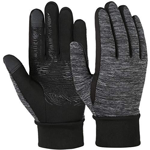 VBIGER Vollfinger Winterhandschuhe, Touchscreen Handschuhe für Kinder, Schwarz, S(4-6 Jahre alt = Etikett 6-8)