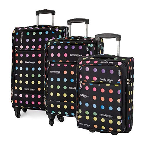 David Jones - Set de 3 Valises Souples 75 cm Taille...