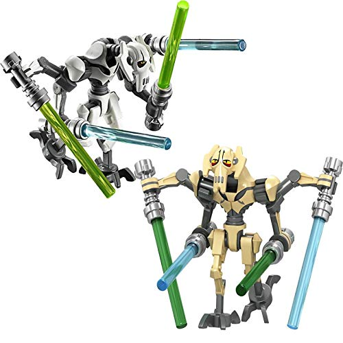 GXYMF Star Wars General Grievous with Lightsabers Battle Robot Model Buildable Action Figures Toys for Children 2pcs diffrernt