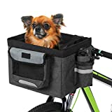 Lixada Bike Basket Folding Pet Cat Dog Carrier Front Removable Bicycle Handlebar...