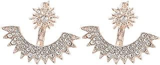 luxurious Korea&Europe & US full diamond personality Creative design Gypsophila multi-angle diamond earrings Jewelry