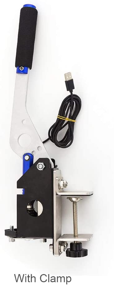 Nero Freno a Mano Universale per SIM Racing No clamp Freno a Mano USB con Morsetto per Giochi da Corsa G25 G29 T500 Compatibile Solo con Sistema PC//Windows