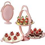 3 in 1 Cupcake Stands Cake DEKORIERENDER Stand Cake Bildschirm Stand Foldable FRUCHTPLATTE SERVIERPLATTER Stand Plastic Fruit Bowl Dessert Stand Trays Holder
