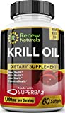 Antarctic Krill Oil 1000 mg Serving with Omega-3s EPA DHA Astaxanthin...