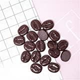 AMOBESTER Slime Charms Coffee Beans Charms Flatback Buttons for Craft Making Embellishments