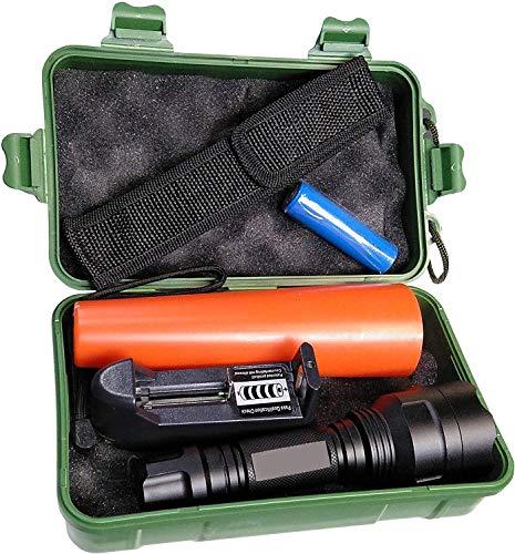 Linterna policia LED incluye batería litio recargable, cargador y cono tráfico. LED Cree T6 1000 Lumenes. Uso profesional. (Trafico)