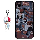 Compatible with Samsung Galaxy A10E Case My Hero Academia Anime Design [with Todoroki Shoto Figure Keychain], Soft Silicone TPU Animation Cool Phone Case for Samsung Galaxy A10E