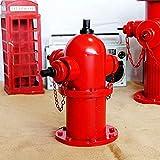 LUCKFY Statua in Metallo idrante antincendio - Lampione da addestramento per Cani - Figurine Decorative per idrante antincendio da Esterno per Giardino Esterno Ornamento da Cortile,Small Size
