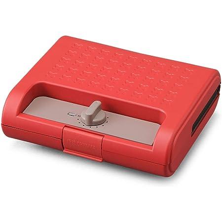 アイリスオーヤマ ホットサンドメーカー ワッフル ホットサンド 焼き型2種 耳まで焼ける 電気 ワイド ダブル 2枚 IMS-902-R レッド