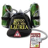 Bombo Casco Porta lattine per Festeggiare la Laurea