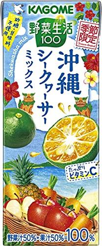 野菜生活100 沖縄シークヮーサーミックス 195ml×24本 紙パック