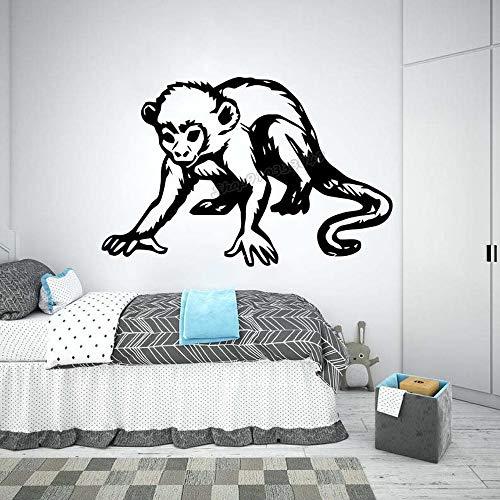 Blrpbc Adhesivos Pared Pegatinas de Pared Etiqueta engomada del Vinilo del Arte del chimpancé de la Jungla del Mono para el Cartel de la decoración de la habitación de los niños del Cuarto 128x84cm